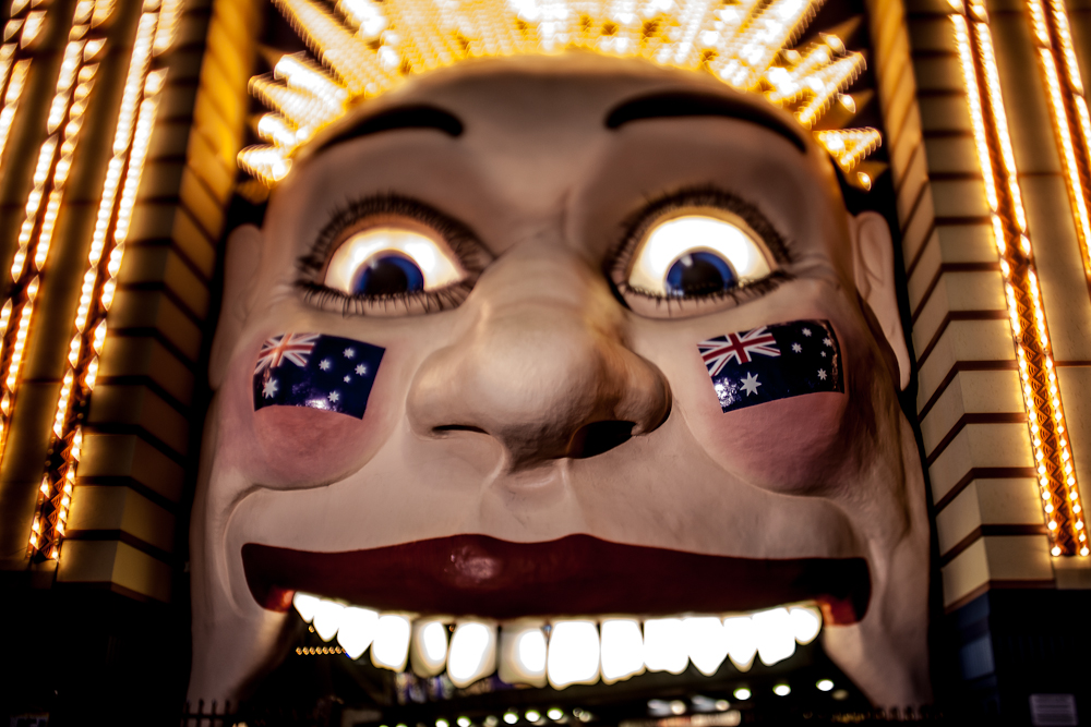 The smiling face of Luna Park in Sydney's Milson's Point.