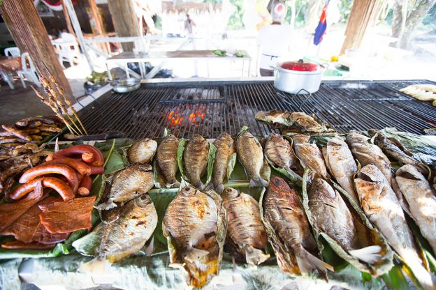 Charcoal grilled fresh water fish in Quistococha